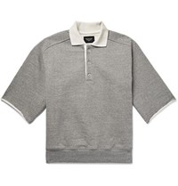 Fear Of God Silk Trimmed Loopback Cotton Jersey Polo Shirt Gray