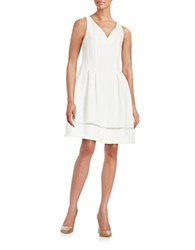 Taylor Knit Fit And Flare Dress White