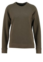 Earnest Sewn Ella Sweatshirt Army Green Khaki