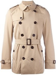 Burberry Double Breasted Jacket Nude And Neutrals