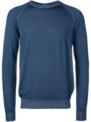 Drumohr Raglan Sweater Blue