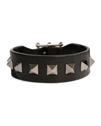 Valentino Garavani Men's Rockstud Camo Leather Bracelet Black