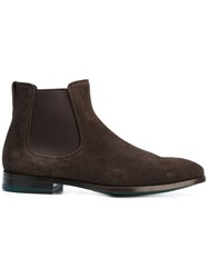 Paul Smith Myron Chelsea Boots Men Leather Suede Rubber 8 Brown
