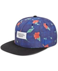 Wesc Men's Strap Back Floral Cap Deep Water
