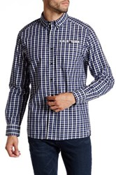 Kenneth Cole Long Sleeve Button Down Collar Check Shirt Gray