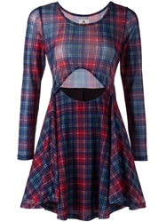 Unif Tartan Cut Out Dress