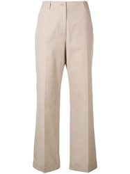 Aspesi Straight Fit Trousers Neutrals