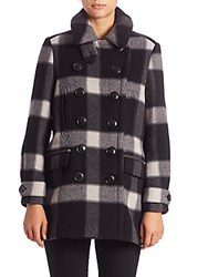 Burberry Weltford Plaid Peacoat Black