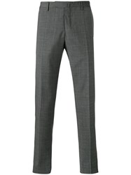 Incotex Checked Trousers Grey