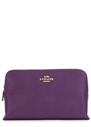 Coach Violet Grained Leather Cosmetics Case