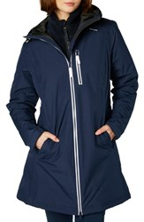 Helly Hansen 'Belfast' Long Waterproof Winter Rain Jacket Evening Blu