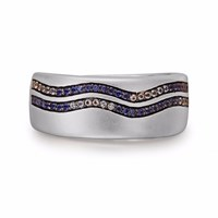 Lmj Life's A Beach Stone Band Ring Blue Grey