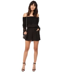 Bb Dakota Cavell Lace Romper Black Women's Jumpsuit And Rompers One Piece