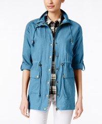 G.H. Bass And Co. Zippered Anorak Jacket Spring Lake Blue