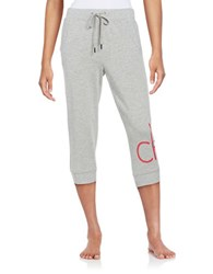 Calvin Klein Logo Accented Cropped Sweatpants Grey