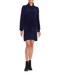 Free People Cowlneck Sweater Dress Blue