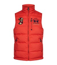 La Martina Reversible Logo Embroidered Gilet Male