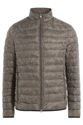 Etro Paisley Print Down Jacket Green