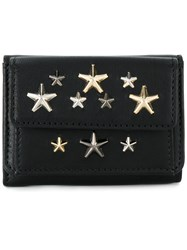 Jimmy Choo Star Studded Tri Fold Wallet Black