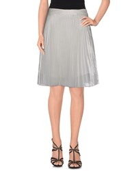 Clu Skirts Knee Length Skirts Women Silver