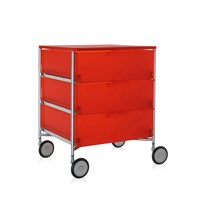 Kartell Mobil 3 Drawer Wheels Orange