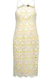 Raoul Gale Two Tone Guipure Lace Dress White
