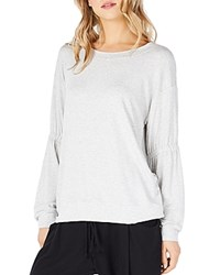 Michael Stars Gathered Sleeve Sweatshirt Perla