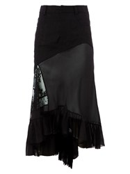Haider Ackermann Asymmetric Layered Skirt Black