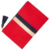 Boden Large Leather Keepsake Pouch Post Box Red