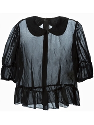 Comme Des Garcons Peter Pan Collar Ruffled Blouse