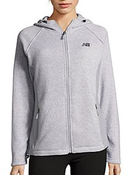 New Balance Knit Long Sleeve Jacket Light Grey