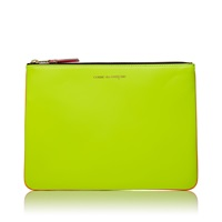 Comme Des Garcons Sa5100sf New Super Fluo Wallet Yellow And Orange