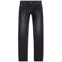 Saint Laurent Skinny Repair Jean Black