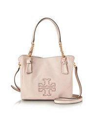 Tory Burch Harper Bedrock Leather Small Satchel Bag Pink