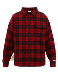 Vetements Checked Cotton Flannel Shirt Red