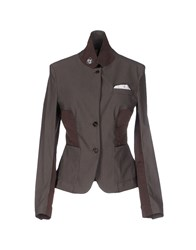Aquarama Suits And Jackets Blazers Women Dark Brown
