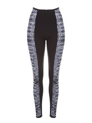 Jane Norman Sequin Front Legging Silver