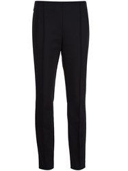Lafayette 148 New York Straight Cropped Trousers Black