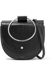 Theory Whitney Leather Shoulder Bag Black
