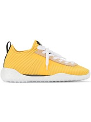 Tod's Lace Up Sneakers Yellow