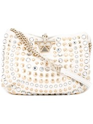 Sonia Rykiel Embellished Shoulder Bag White