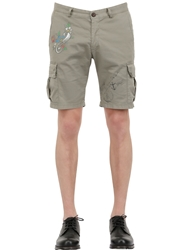 Bob Strollers Light Cotton Twill Cargo Shorts Military Green
