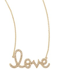 Sydney Evan Large 14K Yellow Gold And Diamond Love Necklace Rose Gold