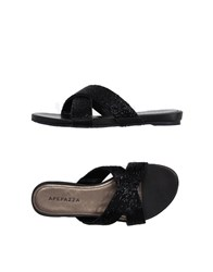 Apepazza Footwear Sandals Women Black