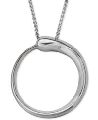 Nambe Circle Pendant Necklace In Sterling Silver
