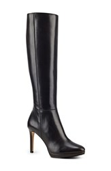 Nine West Women's 'Okena' Knee High Boot Dark Grey Leather