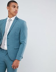 Selected Homme Skinny Suit Jacket In Green With Stretch Ab 12 Green