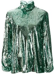 Racil Sequin Embellished Top Green