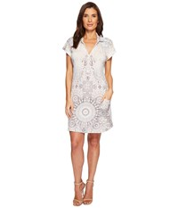 Hale Bob Room To Glow Matte Microfiber Jersey Dress Beige