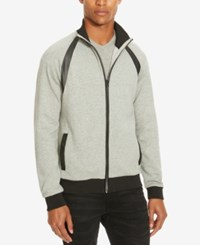 Kenneth Cole Reaction Men's Mock Neck Sweater Heather Grey